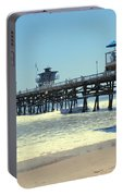 Beach View With Pier 1 Portable Battery Charger