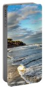 Beach Walk In Winter Portable Battery Charger