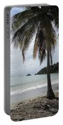 Beach With Palm Tree Portable Battery Charger