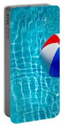 Beachball On Pool Portable Battery Charger