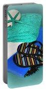 Beachy Things - Aqua Blue Portable Battery Charger