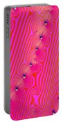 Beaded Pink Portable Battery Charger