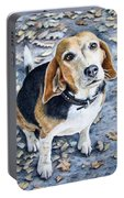 Beagle In Autumn Portable Battery Charger