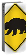 Bear Crossing Sign Portable Battery Charger