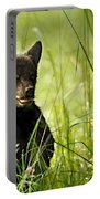 Bear Cub In Clover Portable Battery Charger