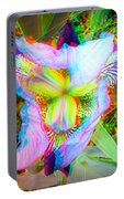 Bearded Iris Cultivar - Use Red-cyan 3d Glasses Portable Battery Charger