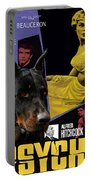Beauceron Art Canvas Print - Psycho Movie Poster Portable Battery Charger