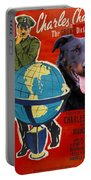 Beauceron Art Canvas Print - The Great Dictator Movie Poster Portable Battery Charger