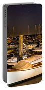 Beaufort Sc Night Harbor Portable Battery Charger by Reid Callaway