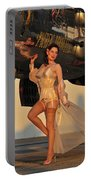 Beautiful 1940s Pin-up Girl Standing Portable Battery Charger