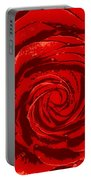 Beautiful Abstract Red Rose Illustration Portable Battery Charger