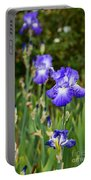 Beautiful And Colorful Iris. Portable Battery Charger