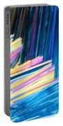 Beautiful Benzoic Acid  Microcrystals Abstract Art Portable Battery Charger