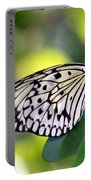 Beautiful Black N White Rice Paper Butterfly Portable Battery Charger