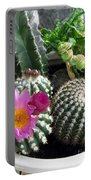 Beautiful Blooming Cactuses Portable Battery Charger