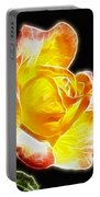 Beautiful Blooming Yellow Rose Portable Battery Charger