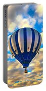 Beautiful Blue Hot Air Balloon Portable Battery Charger