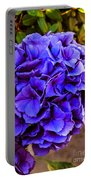 Beautiful Blue Hydrangea Portable Battery Charger