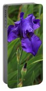 Beautiful Purple Iris Flower Art Portable Battery Charger