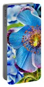 Beautiful Blue Orchid Portable Battery Charger