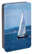 Beautiful Boat Sailing At Puget Sound Portable Battery Charger