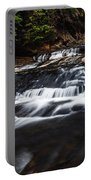 Beautiful Cascade In Western Ghats In Karnataka India Portable Battery Charger