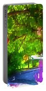 Beautiful Colored Glass Ball Hanging On Tree 1 Portable Battery Charger