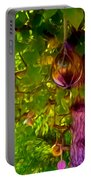 Beautiful Colored Glass Ball Hanging On Tree 2 Portable Battery Charger