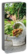 Beautiful Flowers In Basket Portable Battery Charger