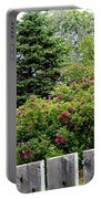 Beautiful Front Yard - Roses - Trees Portable Battery Charger