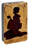 Beautiful Geisha Coffee Painting Portable Battery Charger