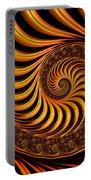 Beautiful Golden Fractal Spiral Artwork  Portable Battery Charger