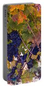 Beautiful Grape Harvest Portable Battery Charger