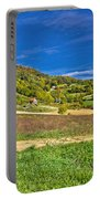 Beautiful Green Hill With Vineyard Cottages Portable Battery Charger