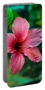 Beautiful Hibiscus Portable Battery Charger