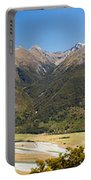 Beautiful Makarora Valley On South Island Of Nz Portable Battery Charger
