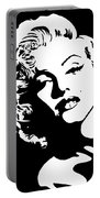 Beautiful Marilyn Monroe Original Acrylic Painting Portable Battery Charger