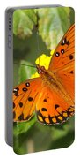Beautiful Orange Butterfly - Gulf Fritillary Portable Battery Charger
