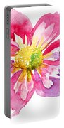 Beautiful Pink Flower Portable Battery Charger