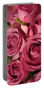 Beautiful Pink Roses 6 Portable Battery Charger