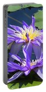 Beautiful Purple Lilies Portable Battery Charger