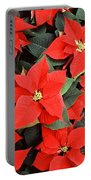 Beautiful Red Poinsettia Christmas Flowers Portable Battery Charger