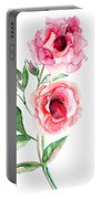 Beautiful Roses Flowers Portable Battery Charger