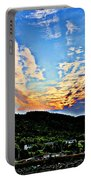 Beautiful Sky Over The Harbour Digital Painting Portable Battery Charger