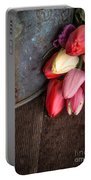 Beautiful Spring Tulips Portable Battery Charger