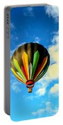 Beautiful Stripped Hot Air Balloon Portable Battery Charger