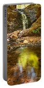 Beautiful View Of Upper Falls Located In Uvas Canyon County Park Forest Reflection Portable Battery Charger
