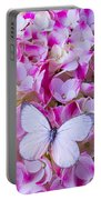 Beautiful White Butterfly Portable Battery Charger