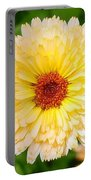 Beautiful Yellow Marigold Goldbloom Close Up  Portable Battery Charger