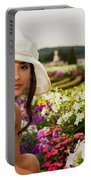 Beautiful Young Woman In Paris Portable Battery Charger